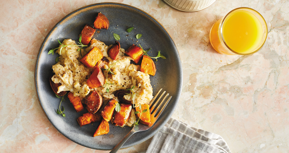 Sweet Potato Home Fries with Eggs
